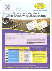 TVS Emergency Card For Cars Bresk Down & Service