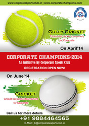Corporate Tennis Ball Cricket Tournament in April 2014 - Chennai