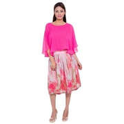 Stylish Pink Georgette Skirt at Best Price