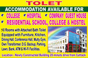 Building on Guest House,  Hospital,  Residential College, Hostel & School