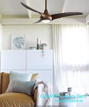 Luxury wooden fan