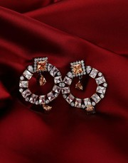 Exclusive collection of chandbali gold earrings at Low Price .