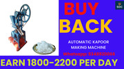 with buy back agreement,  Kapoor making machine, call-9348920066
