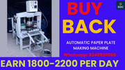Paper Plate Machine with buy back agreement, Call-9348920066